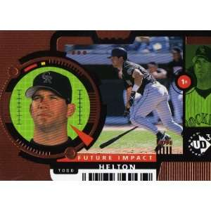 1998 Ud3 Baseball #104 Todd Helton FE: Sports Collectibles