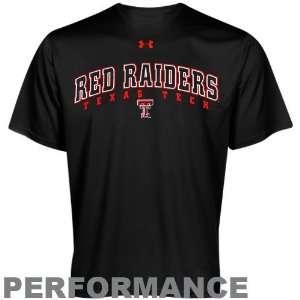 Under Armour Texas Tech Red Raiders Black HeatGear Training