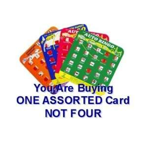 Regal ravel Auo Bingo Game Card   Car Bingo, Assored Colors (Sold