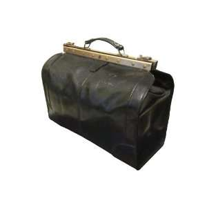 Vintage Valor Rome Black Italian Leather Duffel, Duffle, Travel Bag