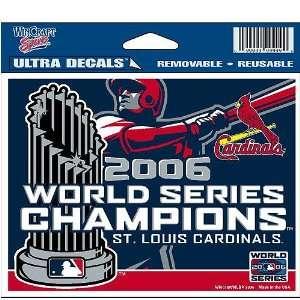 Wincraft St. Louis Cardinals World Series Champions Ultra Decal (4.5x6