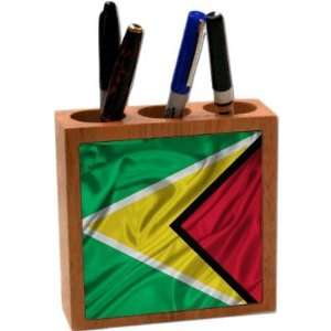 com Rikki KnightTM Guyana Flag 5 Inch Tile Maple Finished Wooden Tile
