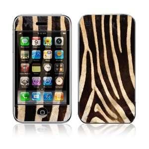 iPhone 2G Vinyl Decal Sticker Skin   Zebra Print