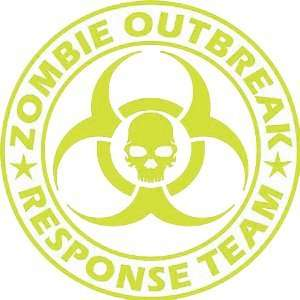 Zombie Outbreak Response Team YELLOW 5 Die Cut Vinyl