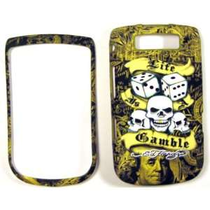 Ed Hardy Life is a Gamble Blackberry Torch 9800 Faceplate