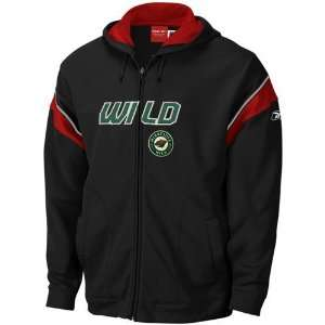 Reebok Minnesota Wild Youth Black Top Shelf Full Zip Hoody