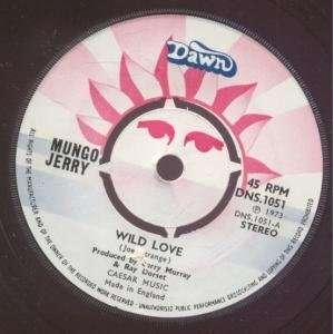 WILD LOVE 7 INCH (7 VINYL 45) UK DAWN 1973