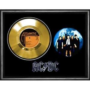 AC/DC Lets Get It Up Framed Gold Record A3 Musical