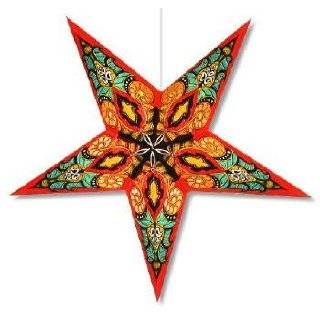 Celtic Red Paper Star Lamp, Star Lantern Star Light