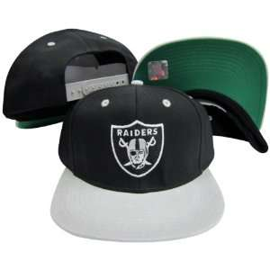 Oakland Raiders Logo Black / Silver Two Tone Plastic