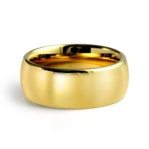 Men Tungsten Carbide Wedding Polish Band Gold Plated Comfort Fit 9mm