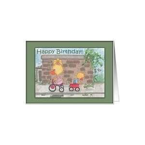 Happy Birthday  Boy and Girl Ducks Card Toys & Games