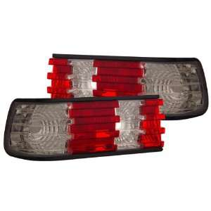 86 91 Mercedes S Class W126 Red/Clear Tail Lights