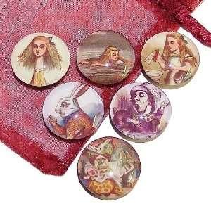 The Black Cat Jewellery Store Alice In Wonderland Fridge Magnets Set