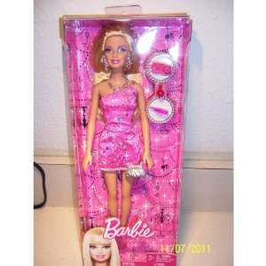 Barbie Doll Night On The Town Evening Wear Doll   Pink   With Purse