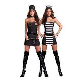 Sexy Female Prisoner Convict Costume   SMALL/MEDIUM