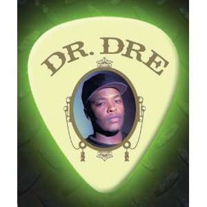 Dr Dre 5 X Glow In The Dark Premium Guitar Picks Musical
