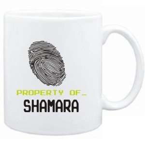 Mug White  Property of _ Shamara   Fingerprint  Female Names