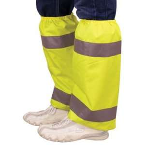 Leg Gaiters Hi Visibility Shin Covers   Hi Vis Lime Green