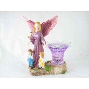 Pink Guardian Angel With Children Electric Oil