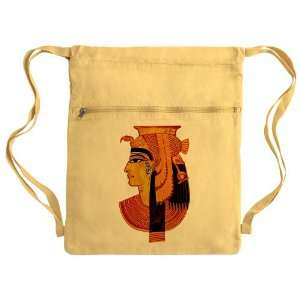 Messenger Bag Sack Pack Yellow Egyptian Pharaoh Queen