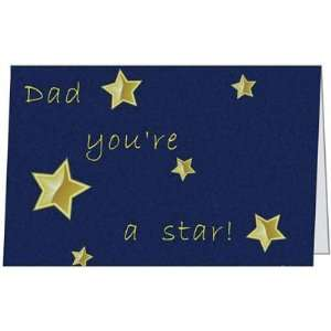 Birthday Dad Father Daddy Happy Love Best Star Greeting Card (5x7) by