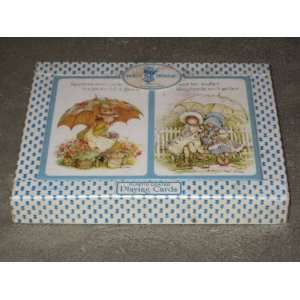 Vintage Holly Hobbie Double Deck Plastic Coated Playing Cards