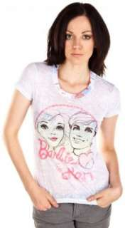 Mighty Fine Barbie And Ken Summer T Shirt   White Clothing