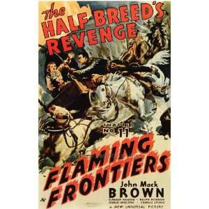 Flaming Frontiers Poster Movie 27x40