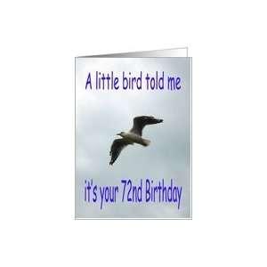 Happy 72nd Birthday Flying Seagull bird Card  Toys & Games