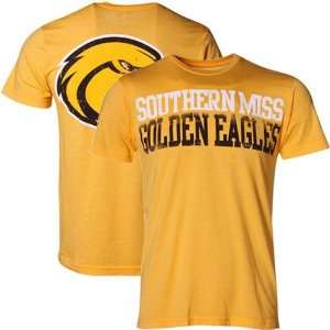 NCAA My U Southern Miss Golden Eagles Heather Gold Literality T shirt