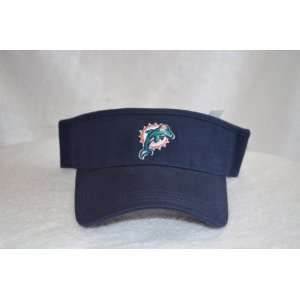 Miami Dolphins Blue Visor Hat   NFL Golf Cap: Sports