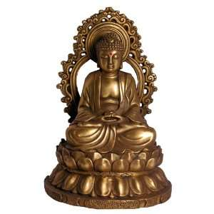 Chinese Quan Yin Buddha Copper Statue:  Home & Kitchen