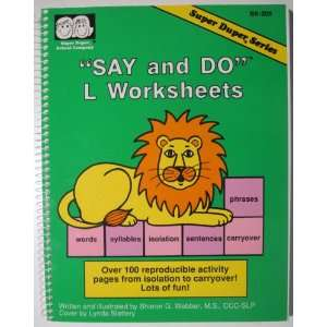 Say and do l worksheets Over 100 reproducible activity