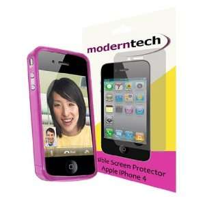 Modern Tech Pink Gel Case/ Skin and Invisible Screen