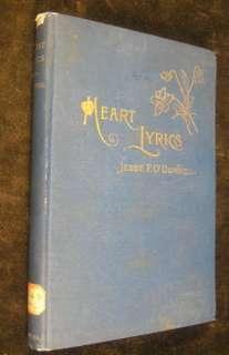 Heart Lyrics 1887 ODonnell poetry nice binding