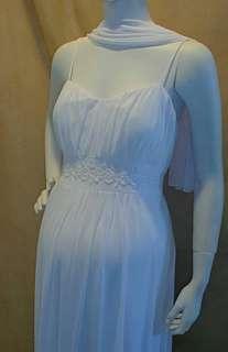 New Long White Maternity Wedding Dress Bridal MEDIUM