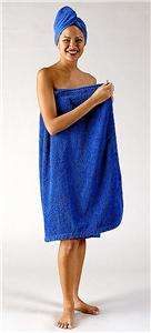 New Womens 100% Turkish Terry Cotton Shower Body Spa Bath Wrap Towel S