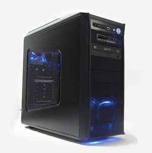 AMD Quad Core 8GB Ram HD6770 Game Graphics Windows 7 Blue LED Gaming