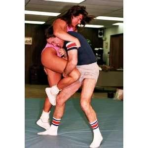 Womens Wrestling DVD   Real Mixed Mat Action   LSP VV16   Christina