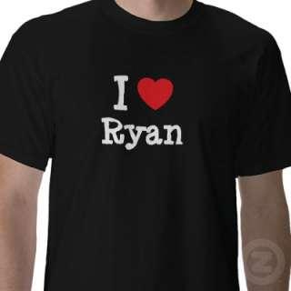 love Ryan heart custom personalized Shirt by funnycustomtshirts