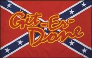 Rebel GitRDone 3x5 Feet Flag / Rebel GitRDone Flag