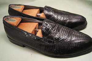 Stacy Adams Loafer Snake Black 11.5 m Mens Dress Shoes