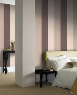 18942 Superfresco Colours Java Chocolate,Cream,Beige Stripe Wallpaper