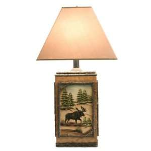 Moose Tracks Table Lamp, COLOR AS SHOWN (Black): Home Improvement