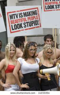 Lucy Pinder, Kayleigh Pearson at MTV Against Model Testing PR stunt