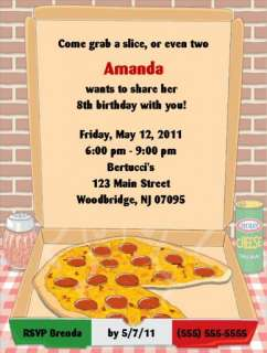 Pizza Party Invitations/Birthday Party Supplies