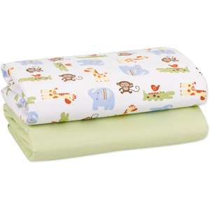 Child of Mine   2pk Fitted Crib Sheets, Zoo Babies Bedding & Decor