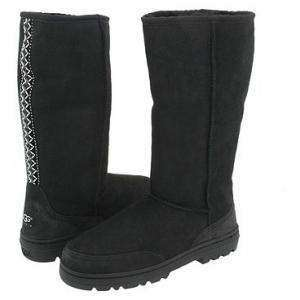 NIB UGG Australia Womens Ultra Tall Black Boots Sizes 7 8 9 EU 38 39