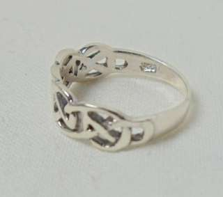 Sterling Silver Celtic Knot Child Baby Ring SZ 1 r15